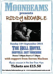 Roddy Woomble at Moonbeams Events poster